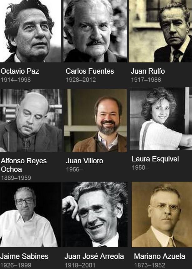 Resultado de imagen para libros de escritores mexicanos famosos